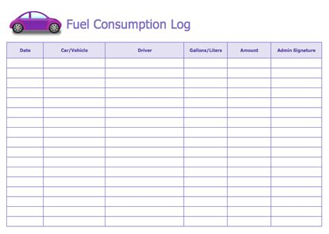 gas mileage log template search results for free expenses daily template