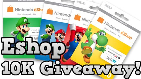 10k Giveaway - 10k giveaway four 10 prepaid eshop nintendo cards closed youtube