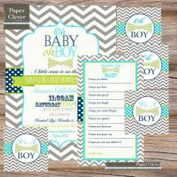 boys baby shower invitation bundle vintage by paperclever
