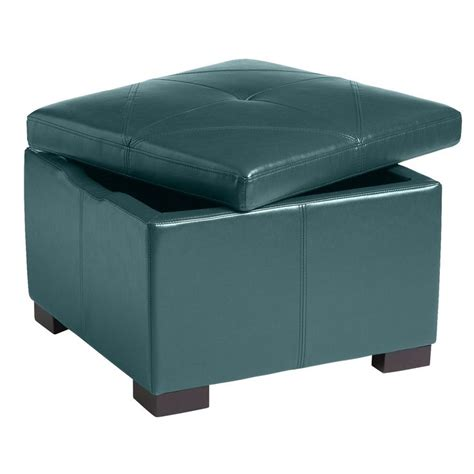 teal leather chair and ottoman chelsea storage ottoman teal pier 1 imports for the