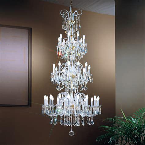 Cristal Chandeliers Three Tier Crystal Glass Chandelier