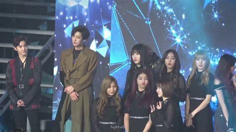 exo gfriend 170222 gfriend exo nct ending stage on gaon award youtube
