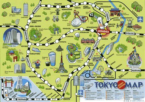 maps tokyo tokyo map tourist attractions travelquaz