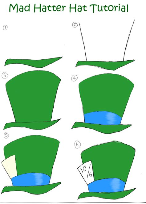 mad hatter hat template mad hatter hat tutorial by disneygirl52 on deviantart