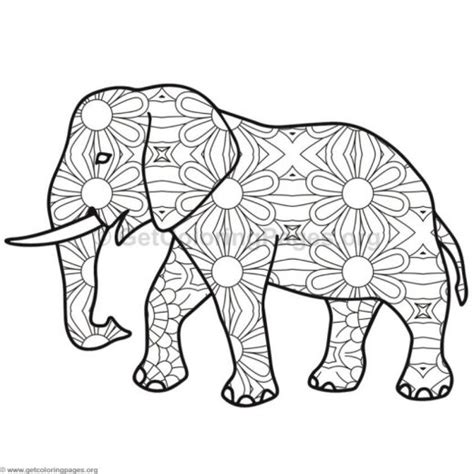 mosaic elephant coloring page mosaic elephant pages coloring pages