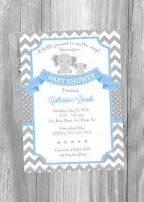grey and blue chevron baby shower invitation by jcpartyprint baby centerpieces