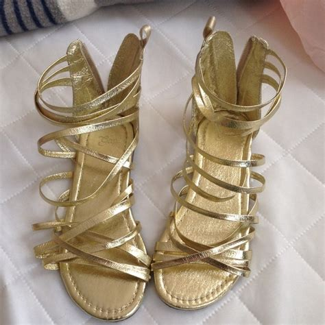 gold shoes size 13 36 gap shoes big size 13 gap gold strappy
