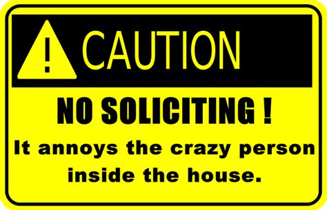 How To Stop Door To Door Solicitors Legally by For Your Consideration No Soliciting Sign
