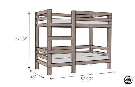 bunk bed template 35 free diy bunk bed plans to save your bedroom space