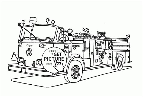 Rescue Truck Coloring Page | rescue transportation fire truck coloring page for kids