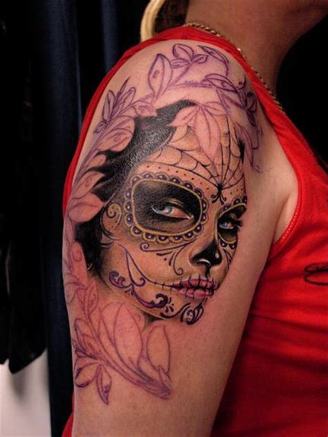 dia de los muertos tattoo designs mexican d 236 a de los muertos work in progress by michele