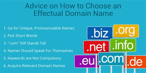 advice on how to choose an effectual domain name top seo