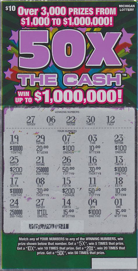 Free Instant Win Scratch Tickets - livonia man wins 1 million playing 50x the cash instant