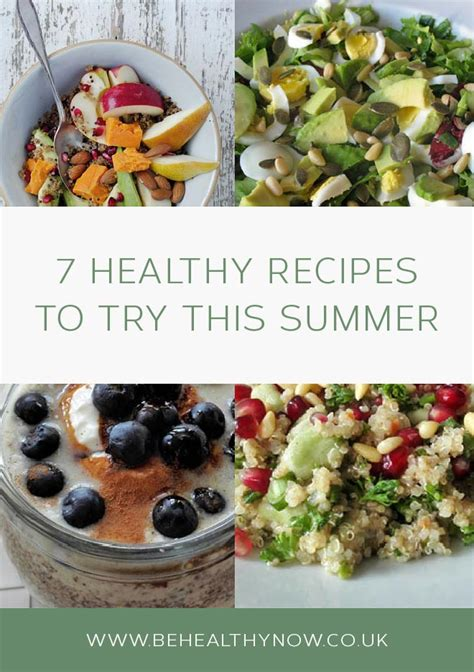 7 Healthy Recipes by 7 Healthy Recipes To Try This Summer Be Healthy Now