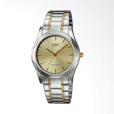 Jam Tangan Pria Casio Mtp V008d Silver Biru Original jual casio standard stainless steel jam tangan pria silver gold mtp 1275sg 9a