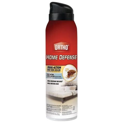 bed bug insecticide ortho home defense dual action bed bug killer aerosol