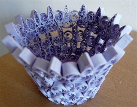 paper quilling vase tutorial quilled lilac vase by tina burton crafts paper crafts