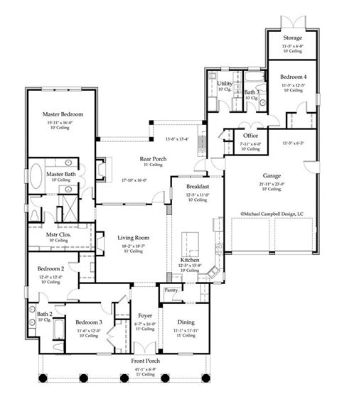 house plan 2776 square 4 bedroom 3 bath louisiana
