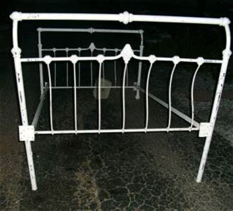 Iron Sleigh Bed Frames Antique White Metal Cast Iron Sleigh Bed Frame Size W Rails Ebay