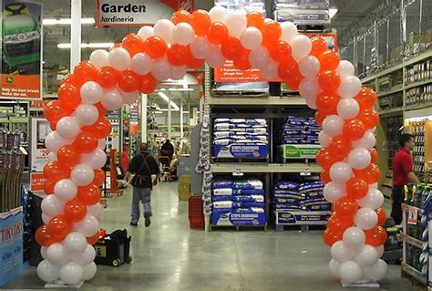 home depot grand opening balloon arch balloon decor