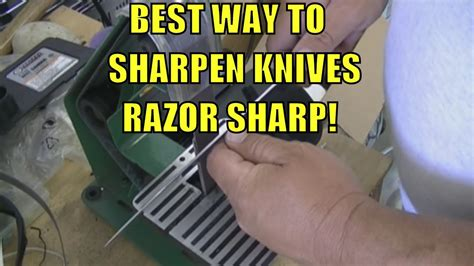 best way to sharpen any knife razor sharp