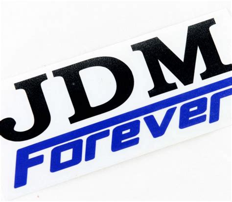 jdm mitsubishi logo jdm forever car sticker decal logo white black for