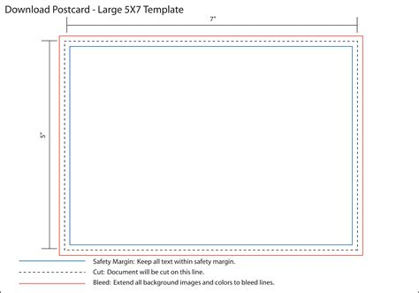5x7 card template landscape 5x7 postcard template professional and high quality
