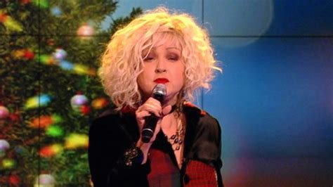 watch cyndi lauper perform quot rockin around the christmas