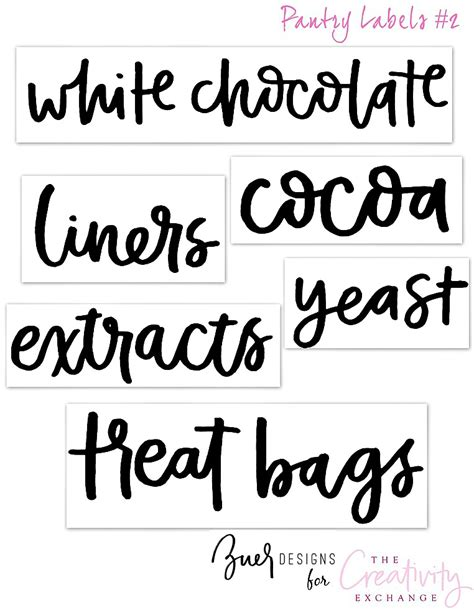 printable pantry labels free printable pantry labels hand lettered