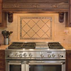 Kitchen Range Backsplash Tumbled Marble Backsplash Pictures And Design Ideas