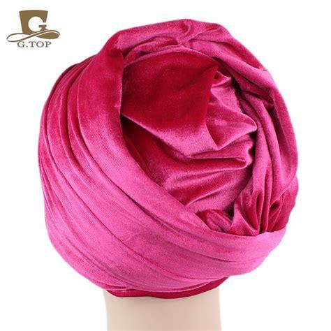 5 Beautiful Velvet Pieces To by מוצר 5 Pieces Wholesales Fashion Turban