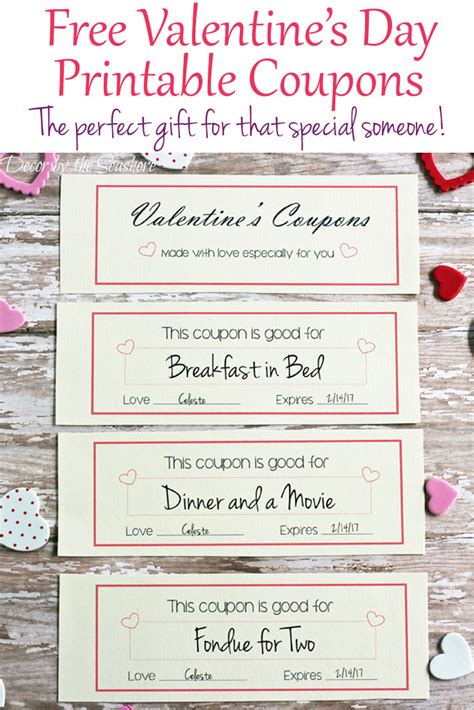 valentines day coupons free s day coupons decor by the seashore