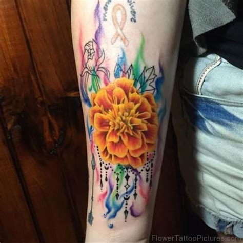 50 phenomenal marigold flower tattoos