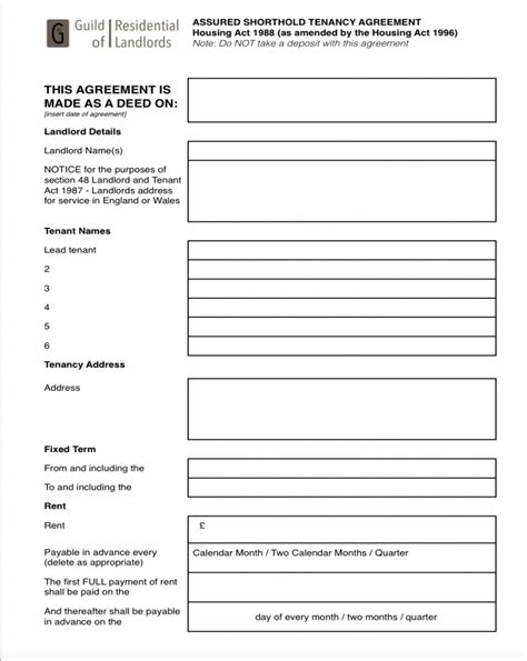 tenancy agreement form  main group