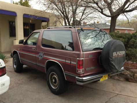 chevy s10 tahoe edition chevrolet s10 blazer 4wd tahoe edition 1989 with less than
