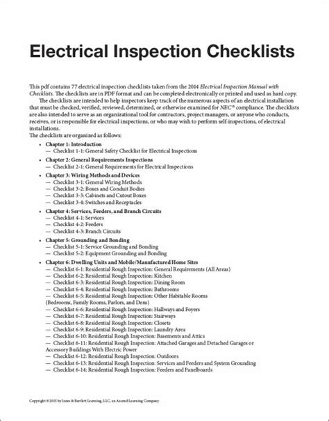 electrical inspection checklist pictures to pin on