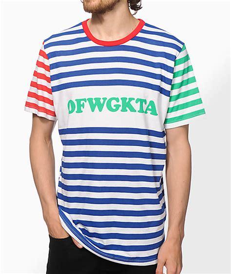 Kaos Ofwgkta Future Golf Wang 1 future ofwgkta striped t shirt zumiez