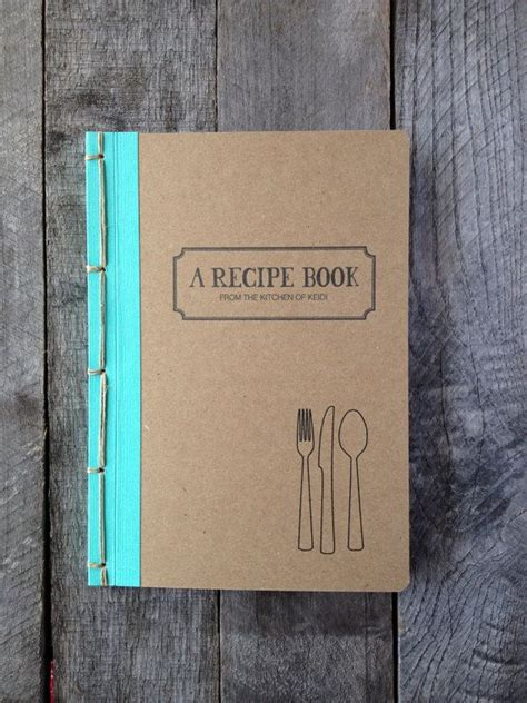 personalized recipe book choose your own binding color