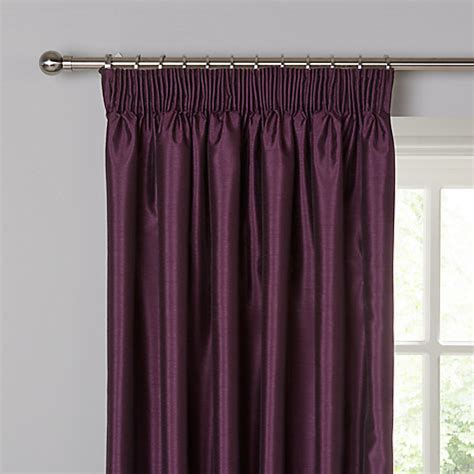 john lewis silk curtains buy john lewis faux silk blackout lined pencil pleat
