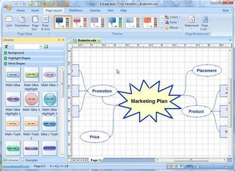 membuat mind map di visio how to create a mind map in visio techwalla com