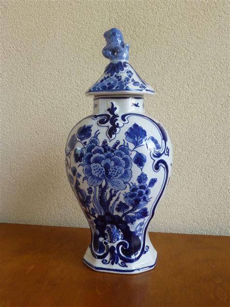 Big Blue Vase by De Porceleyne Fles Royal Delft Big Delft Blue Vase And