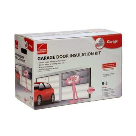 Home Depot Garage Door Insulation Owens Corning Garage Door Insulation Kit 8 Panels Gd01