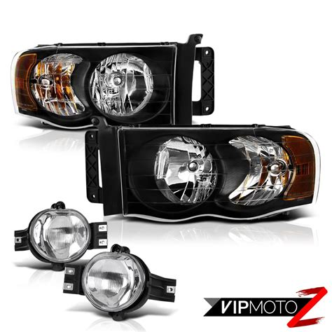 fog light assembly dodge ram 1500 black l r headlight assembly oe style fog light l 2002