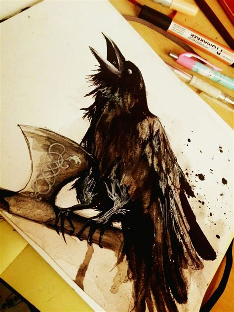 odin s raven by adlibber tattoo pinterest raven
