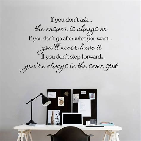 inspirational quotes wall stickers removable decal home