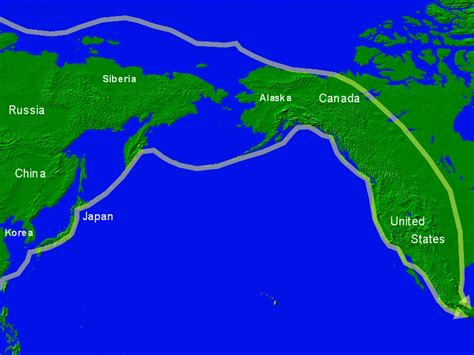 asia and america map e asia and america present day with ancient migration