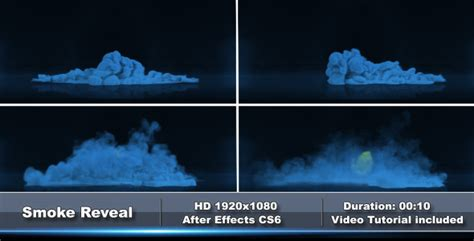smoke logo reveal after effects template videohive