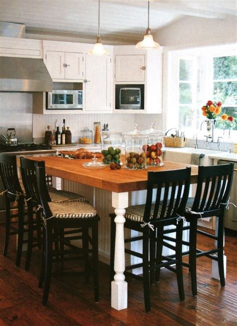 kitchen island with table seating 1000 ideas about kitchen island table on pinterest
