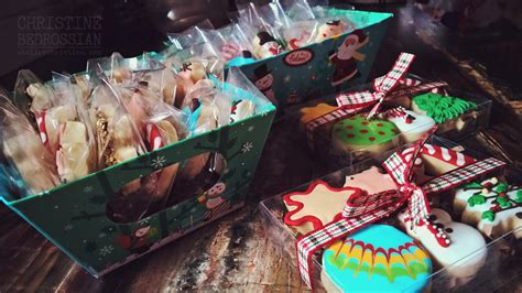 le shoppe winter holiday baking christmas cookie gift box atelier christine