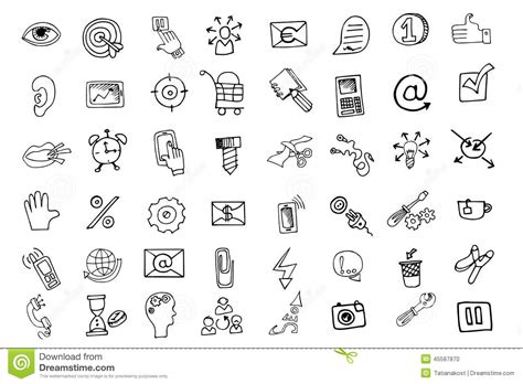 doodle draw icon pack apk doodle business seo icons set outline sketchy stock vector
